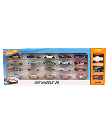 Hotwheels Cars Pack Of 20 Plus Get Free Match Box -  Multicolor