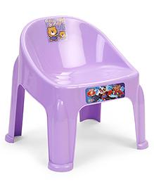 Ratnas Plastic Chair Happy Funny Print - Purple