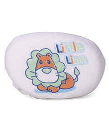 Dinosaur Print Baby Bath Sponge - Orange White