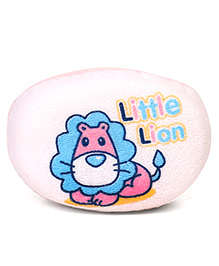 Little Lion Print Baby Bath Sponge - Pink White