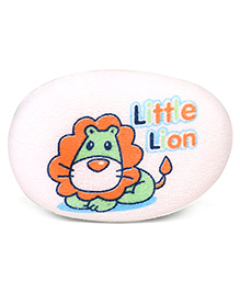 Little Lion Print Baby Bath Sponge - Green White