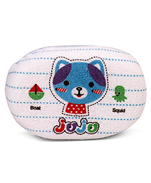 Jojo Cat Printed Baby Bath Sponge - Blue White