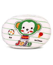 Jojo Monkey Printed Baby Bath Sponge - Green White