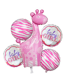 Shopperskart Baby Girl Air-Toy-Foil-Helium Balloons For Birthday/Welcome Baby/Baby Shower