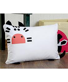 My Gift Booth Rectangle Shaped Cushion Zebra Design - White