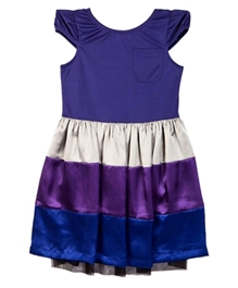 Herberto - Purple Satin Dress