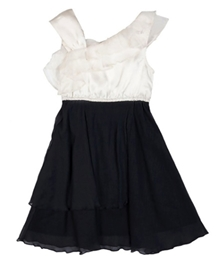 Herberto - Black And White Layered Frock