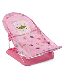 Baby Bather With 2 Level Reclining Seat Fish Print - Pink