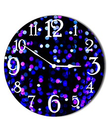 Studio Shubham Abstract Design Wooden Wall Clock - Black Blue