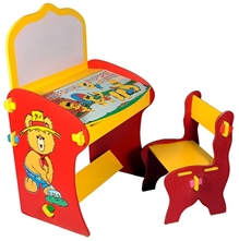 Luft Creations - Alphabet Printed Study Table Set