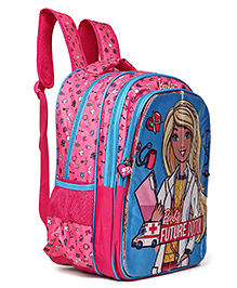 Barbie School Bag Pink - Height 16 Inches