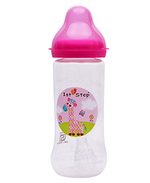 1st Step Anti Colic Feeding Bottle Pink - 250 Ml