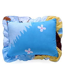 Flower Printed Baby Pillow - Blue