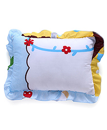Flower Printed Baby Pillow - Multicolour