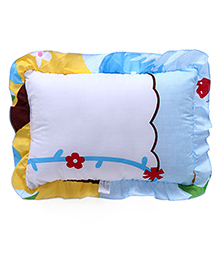 Multi Printed Baby Pillow - Blue White