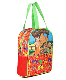 Chhota Bheem Dholakpur Border Lunch Bag Red - Height 13 Inches