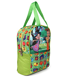 Chhota Bheem & Chutki Lunch Box Bag Green - Height 10 Inches
