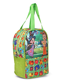 Chhota Bheem & Chutki Lunch Bag Green - Height 13 Inches