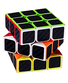Emob High Speed Carbon Fiber Sticker 3x3 Neon Colors Magic Rubik Cube Puzzle Toy
