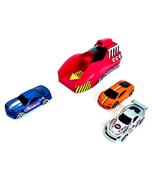 Emob Launcher Playset Toy With 3 Die Cast Metal Stunt Car - Multicolor
