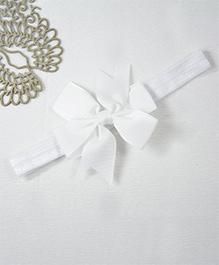 Little Miss Cuttie Dazzling Bow Headband - White
