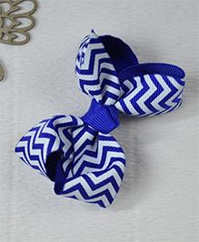 Little Miss Cuttie Chevron Hair Clip - Blue