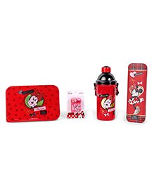 Disney Minnie Mouse School Kit Red - Pack Of 4