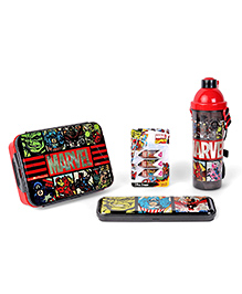 Marvel Avengers School Kit Black & Red -  Pack Of 4