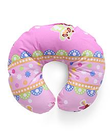 Zebra Print Neck Pillow - Pink