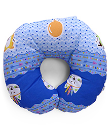 Baby Neck Support Pillow Print - Blue
