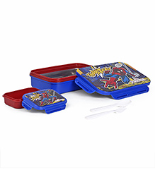 Marvel Spiderman Insulated Lunch Box With Stainless Steel Inside - Blue And Red