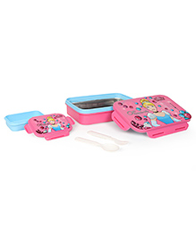 Disney Cinderella Insulated Lunch Box With Stainless Steel Inside - Blue & Pink