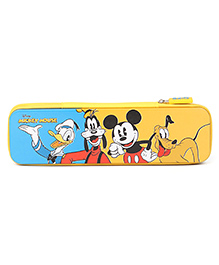 Disney Mickey Mouse And Friends Pencil Box - Yellow & Blue