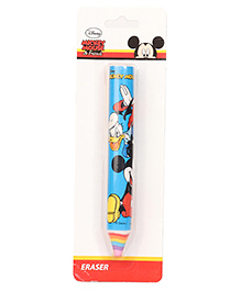 Disney Mickey Mouse And Friends Pencil Shape Eraser - Blue