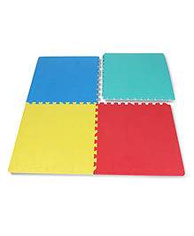 Imagician Playthings Interlocking Exercise & Yoga Form-Mat Pack Of 4 - Multi Colour