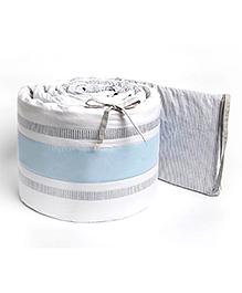Masilo Linen For Littles Nursery Basics Reversible Cot Bumper - Grey Blue