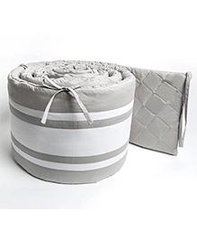 Masilo Linen For Littles Nursery Basics Reversible Cot Bumper - Grey