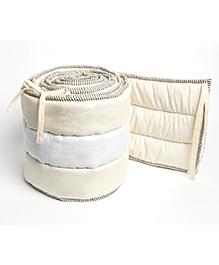 Masilo Linen For Littles Nursery Basics Reversible Cot Bumper - Cream
