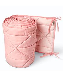 Masilo Linen For Littles Nursery Basics Reversible Cot Bumper - Pink