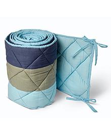Masilo Linen For Littles Nursery Basics Reversible Cot Bumper - Blue
