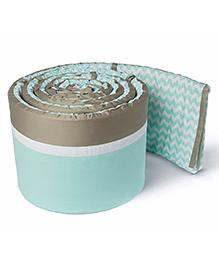 Masilo Linen For Littles Nursery Basics Reversible Cot Bumper - Green