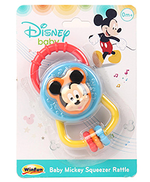 Winfun Baby Mickey Squeeze Rattle - Multicolor