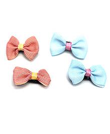 Kid-O-World Bow Hair Clip - Blue & Orange