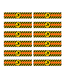 Party Propz Under Construction Themed Bottle Wrappers Set Of 12 - Yellow