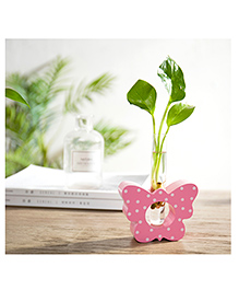 Tipy Tipy Tap Butterfly Shape Tube Wooden Vase - Pink