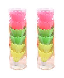 Party Propz Badminton Cork Shape 3D Eraser Multicolour - Set Of 12