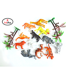 Party Propz Animal Figure Toy Set Multicolour - 14 Pieces