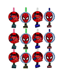 Party Propz Spiderman Themed Blowout Red - 12 Pieces