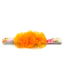 Magic Needles Netted Floral Motif Headband - Orange