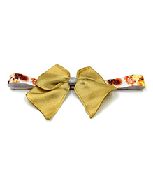 Magic Needles Printed Headband With Bow Motif - Golden